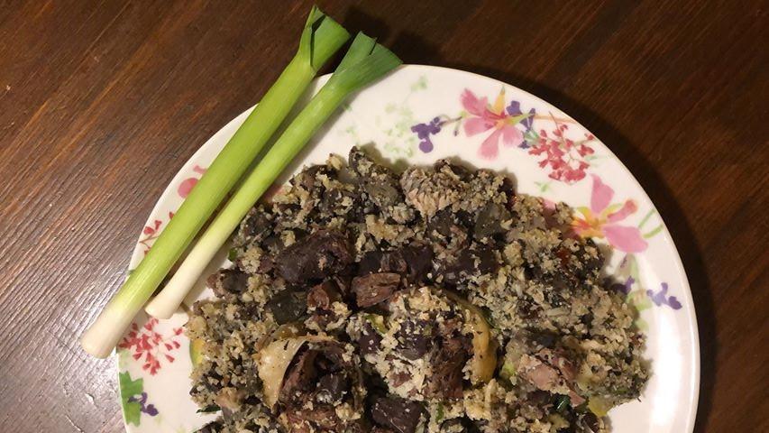 дроб сърма с ориз от карфиол